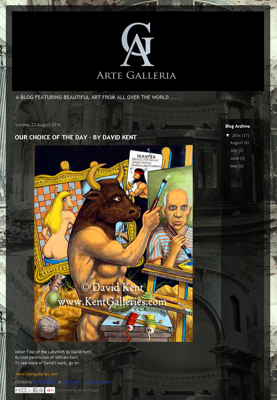 David Kent and Kent Galleries featured on Arte Galleria